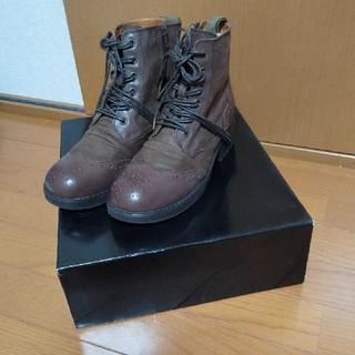 ヨースケ(YOSUKE)のYOSUKE ヨースケ レースアップショートブーツ ウイングチップ(ブーツ)