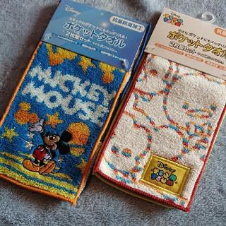 Disney - ポケットタオル2枚組セット×2(4枚)Disneyディズニーミッキーミニハンカチ