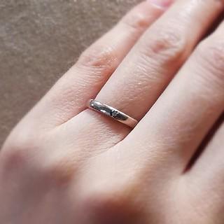 4℃ - 4℃ シルバー リング ピンクシルバー 1粒 ダイヤモンド
