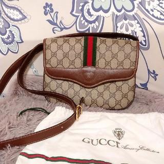 Gucci - 超美品 オールドグッチ 斜め掛けショルダー ビンテージ