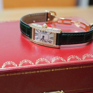 Cartier - カルティエ タンクアメリカン  PG ダイヤ 本物