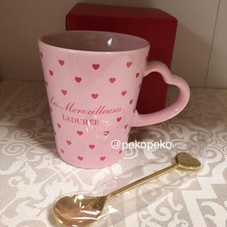 レメルヴェイユーズラデュレ(Les Merveilleuses LADUREE)のラデュレ マグカップ&スプーンセット 新品未使用(グラス/カップ)