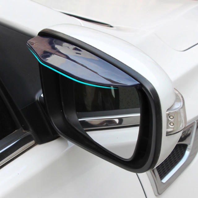 左右2枚セット 一台分 ドアミラーバイザー  雨よけ 黒 両面テープ付き 自動車/バイクの自動車(車外アクセサリ)の商品写真