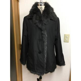 グレーFOX シルク&ファー  2WAY コート(毛皮/ファーコート)