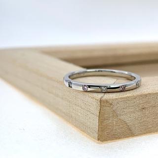 サイズ直し無料 ピンクダイヤ pt900  リング(リング(指輪))