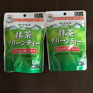 伊藤園 - 抹茶グリーンティー 120g 2袋 伊藤園 加糖タイプ 抹茶
