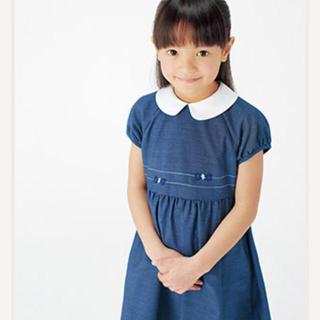 familiar - ファミリア  ワンピース ネイビー 紺 紺色 ブルー 青