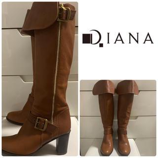 DIANA - ダイアナ ブラウンレザー   ロングブーツ