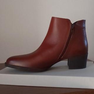 ビームス(BEAMS)の【未使用品】BEAMS/ショートブーツ / 本革 / 24.5(ブーツ)