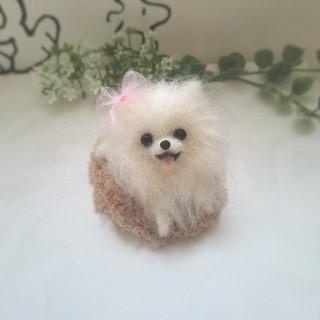 羊毛フェルト ポメラニアン ミニチュア 犬(ぬいぐるみ)