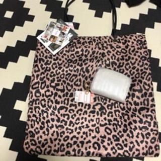 しまむら - しまむら MUMU さん ヒョウ柄トートバッグ カードケース ミニ財布