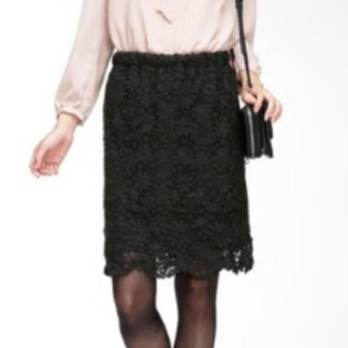RyuRyu - レースタイトスカート ブラック LL
