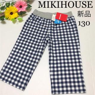 mikihouse - ミキハウス ハーフ パンツ 130 ギンガムチェック 春 ファミリア