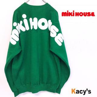 ミキハウス(mikihouse)の未使用 80's デッドストック miki house デカロゴ スウェット (スウェット)