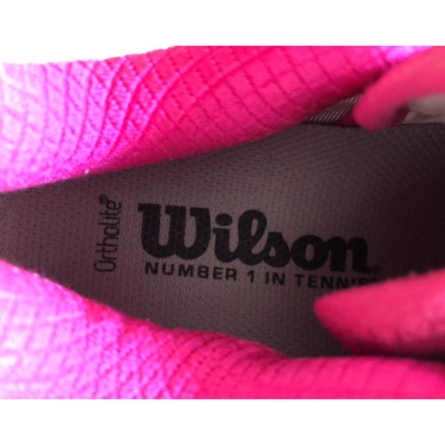 wilson(ウィルソン)の超美品!ウィルソンテニスシューズオムニクレー23.5cm スポーツ/アウトドアのテニス(シューズ)の商品写真