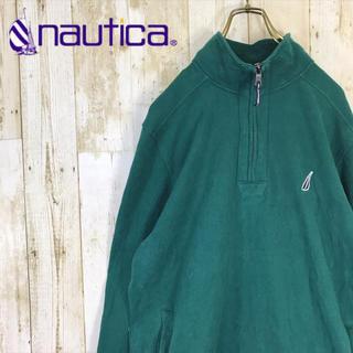 ノーティカ(NAUTICA)のNAUTICA ノーティカ  ハーフジップ スウェット トレーナー 刺繍ロゴ(スウェット)
