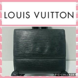 LOUIS VUITTON - ルイヴィトン 折り財布 M63482 エピ 黒色