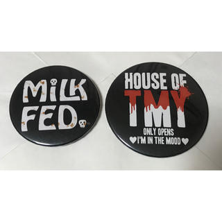 ミルクフェド(MILKFED.)のmilkfed. & House of TMY 缶バッチ(ミュージシャン)
