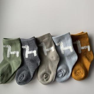 animal design socks 5set 韓国子供服