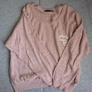 ヘザー(heather)のピンク 薄手セーター(ニット/セーター)