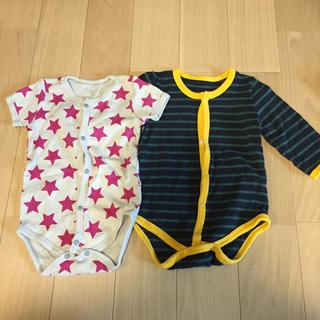ニシキベビー(Nishiki Baby)のロンパース 長袖、半袖 2枚セット 70(ロンパース)