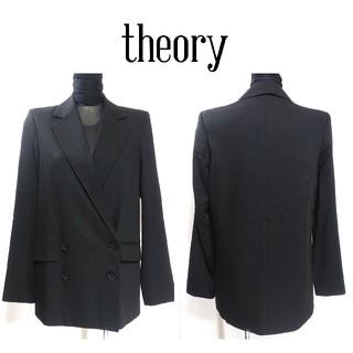 セオリー(theory)のセオリー テーラードジャケット 2 黒 シンプル フォーマル レディース(テーラードジャケット)