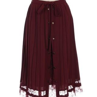 axes femme - ❮USED美品♪❯axes femme フロント釦プリーツスカート♪
