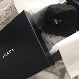 プラダ(PRADA)のPRADA 18aw ナイロンハット M 青山購入(ハット)