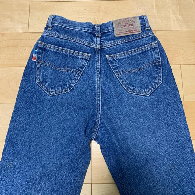 SOMETHING(サムシング)のsomething made in FRANCE デニム W58 B12 レディースのパンツ(デニム/ジーンズ)の商品写真