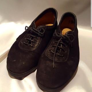 黒革 スウェード シューズ(ドレス/ビジネス)