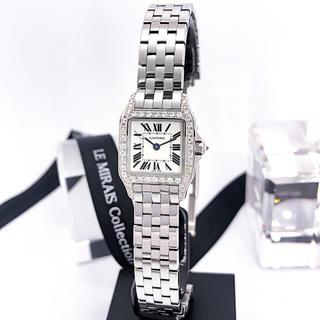 Cartier - 【保証書付】カルティエ サントスドゥモワゼル シルバー レディース 腕時計