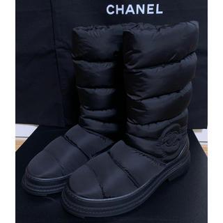 シャネル(CHANEL)の【新品】シャネル CHANEL スノー ブーツ スパイク付 ムートン(ブーツ)