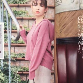 snidel - 新品タグ付き SNIDEL ボタニカルカラーフードニット 今季完売 ピンク