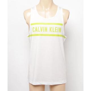 Calvin Klein - CALVIN KLEIN パネル タンクトップ Tシャツ ロゴ ホワイト M