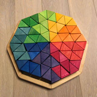 ボーネルンド(BorneLund)のグリムス 虹のオクタゴン72ピース(積み木/ブロック)