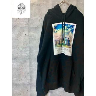 WEGO - 送料無料【WEGO】 黒 パーカー【XL】韓国ファッションにぴったりです