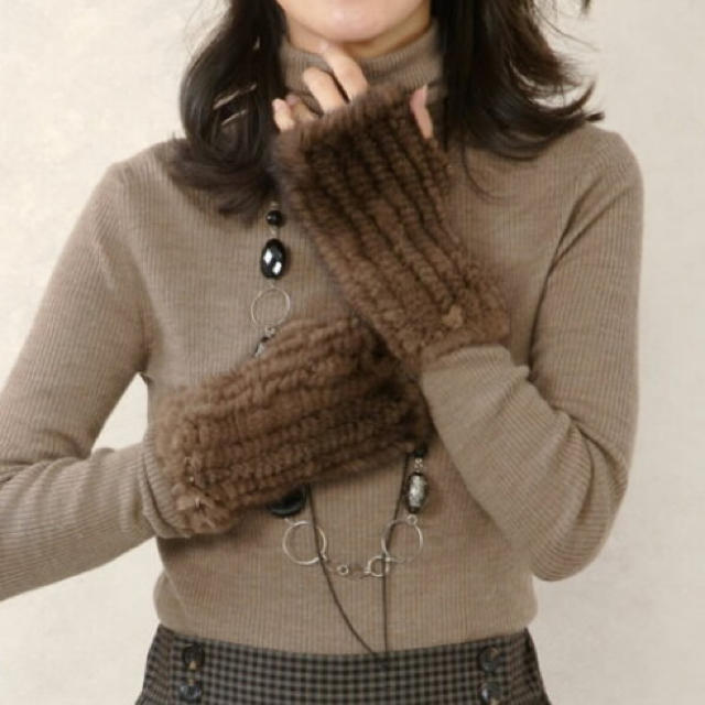 DEUXIEME CLASSE(ドゥーズィエムクラス)のミンク ファーアームウォーマー レディースのファッション小物(手袋)の商品写真
