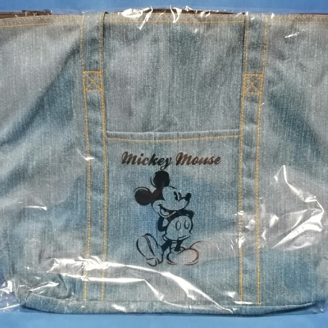 ミッキーマウス(ミッキーマウス)の値下げ★ミッキーマウス デニム調 トートバッグ レディースのバッグ(トートバッグ)の商品写真