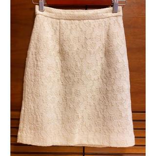 プロポーションボディドレッシング(PROPORTION BODY DRESSING)のプロポーション ボディドレッシング スカート ラメ入り 白 サイズ1 XS S(ひざ丈スカート)
