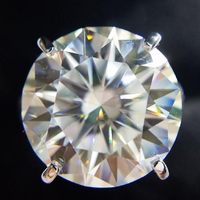 HARRY WINSTON(ハリーウィンストン)の最高級モアサナイト 10カラット! 3EX シルバー レディースのアクセサリー(リング(指輪))の商品写真