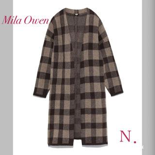 Mila Owen - 【Mila Owen】 ジャガードニットコート