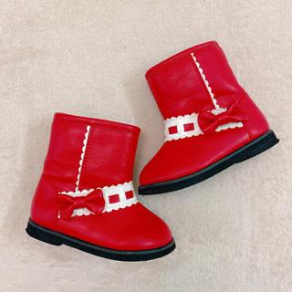 Shirley Temple - シャーリーテンプル はしごリボン ブーツ 靴 14.0