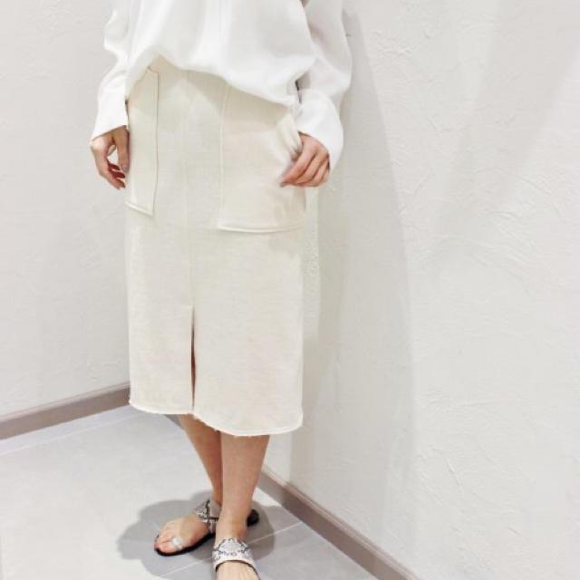 Plage(プラージュ)のPlage Ecru ストレートスカート《アイボリー》 レディースのスカート(ひざ丈スカート)の商品写真