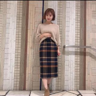 COCO DEAL - ココディール ウール混チェックタイトスカート
