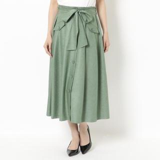 ローズティアラ(Rose Tiara)のローズティアラ大きいサイズ フロントボタンフレアスカート46定価17600円XL(ロングスカート)
