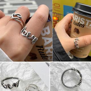 ヴィクトリアズシークレット(Victoria's Secret)のLOVEシルバーリングS925★ラスト(リング(指輪))