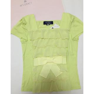 エムズグレイシー(M'S GRACY)の新品 エムズグレイシー フリル シャツ (Tシャツ(半袖/袖なし))
