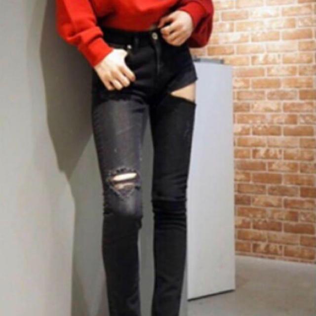 GYDA(ジェイダ)のGYDA サイドリップ  スキニーパンツ S レディースのパンツ(スキニーパンツ)の商品写真