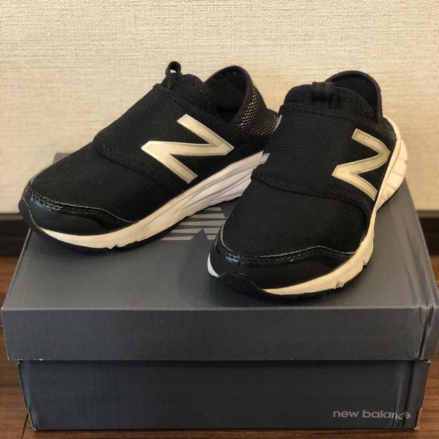 New Balance(ニューバランス)のニューバランススニーカースリッポンNewBalanceK150SBWY18cm黒 キッズ/ベビー/マタニティのキッズ靴/シューズ(15cm~)(スニーカー)の商品写真