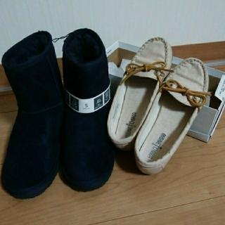 ミネトンカ(Minnetonka)の☆ミネントンカ サイズ5のモカシンとGU未使用ブーツ☆(スリッポン/モカシン)